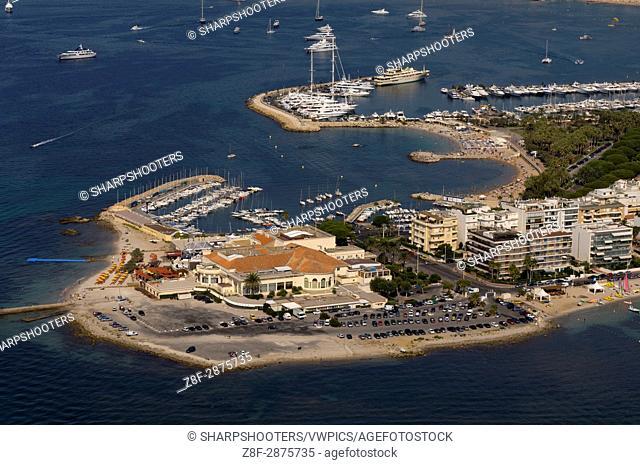 Cap de la Croisette and Palm Beach Casino, Cannes, View from Helicopter, Cote d'Azur, France