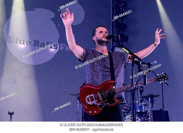 The British band Wild Beasts with singer Hayden Thorpe live at the 25th Blue Balls Festival in Lucerne, Switzerland Hayden Thorpe, vocals Ben Little