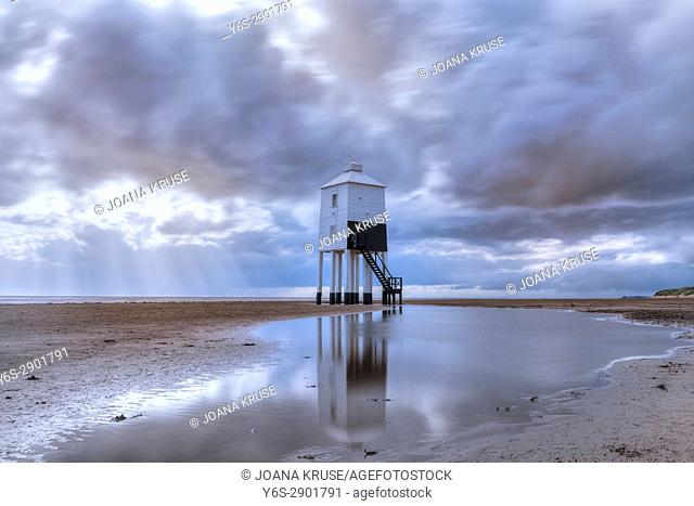 Burnham-on-Sea, lower lighthouse, Somerset, England, UK
