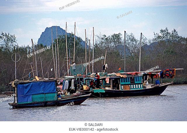 Sampans in Vietnam