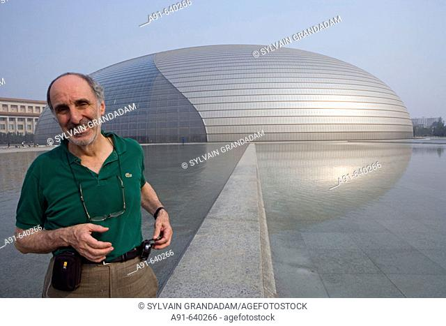 Architect Paul Andreu from France designer of the new opera house near Tian Nen Men square , opening 2008. City of Beijing. China