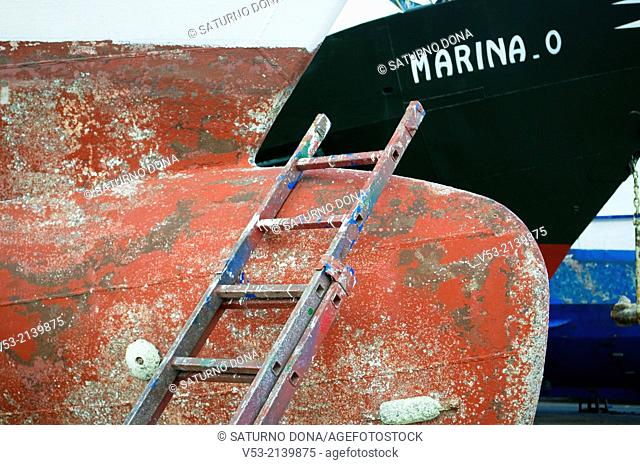 Ladder in shipyard, San Benedetto del Tronto, Italy