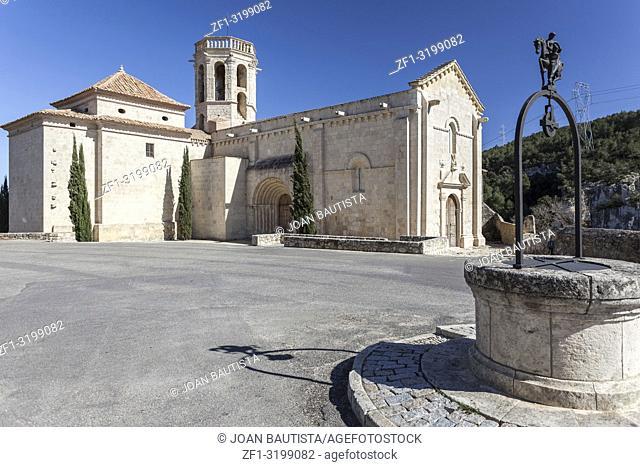 Church, Iglesia Santa Maria,romanesque style, Penedes area,province Barcelona,Catalonia,Spain