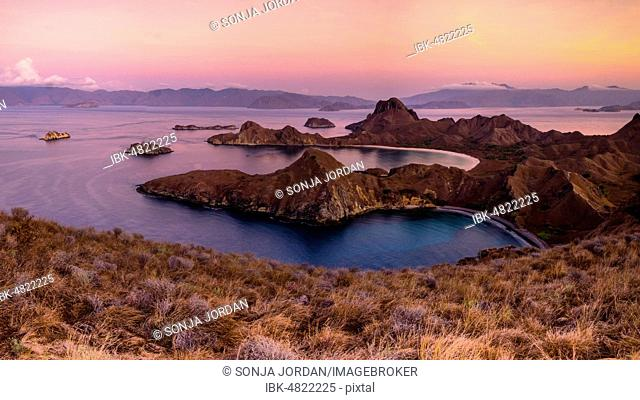 Sunrise on Padar Island, Island World, Komodo National Park, Nusa Tenggara Timur, Indonesia