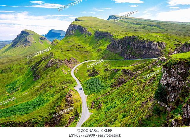 An amazing landscape on the Isle of Skye in Scotla