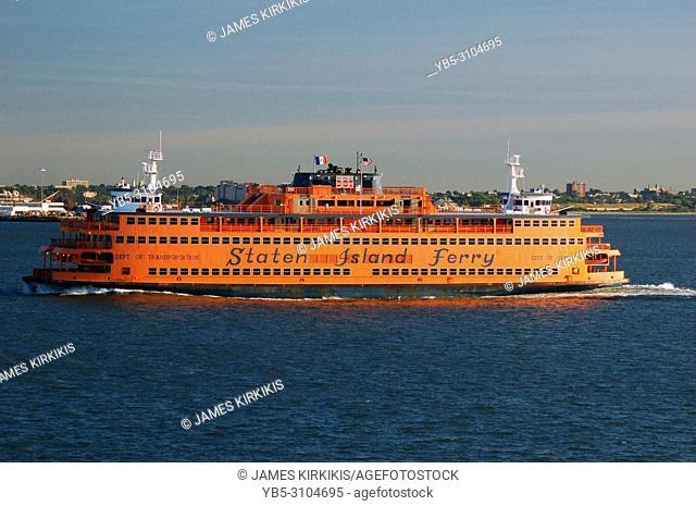 The Staten Island Ferry crosses New York Harbor