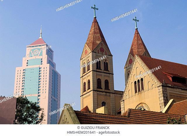 China, Shandong province, Qingdao, Saint Michael Catholic church in the old town