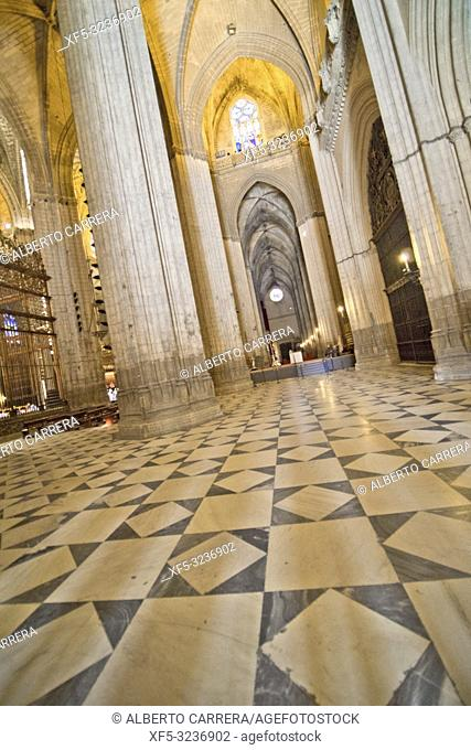Cathedral of Sevilla, Historical Center, Sevilla, Andalucía, Spain, Europe