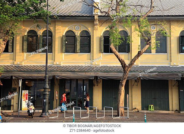Thailand, Bangkok, street scene, historic architecture