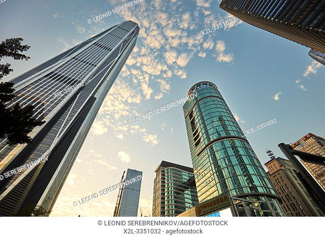 Skyscrapers in Futian Central Business District. Shenzhen, Guangdong Province, China