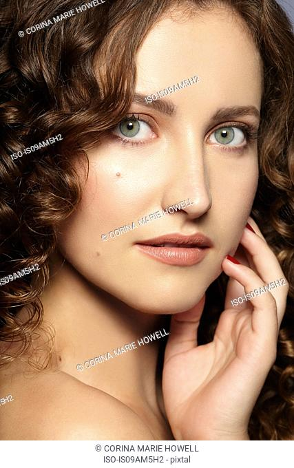 Female model looking at camera