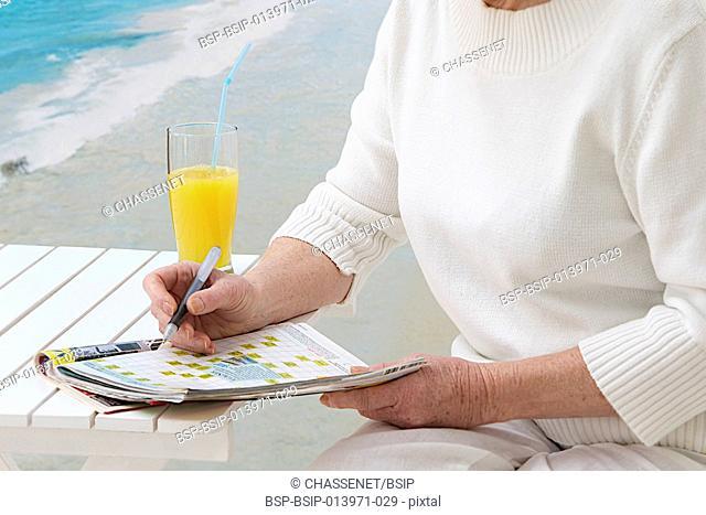Senior woman on holidays