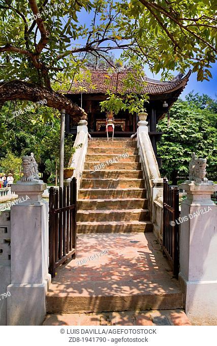 one pillar pagoda in hanoi. vietnam
