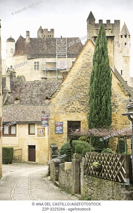 Beynac et Cazenac is one of the most beautiful villages in France and is found on the banks of the River Dordogne Perigord Noir France