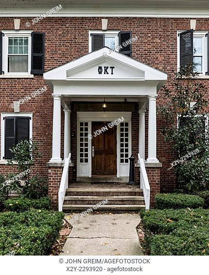 Fraternity house exterior