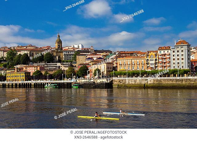 Portugalete, The Estuary of Bilbao, Bilbao, Biscay, Basque Country, Spain, Europe