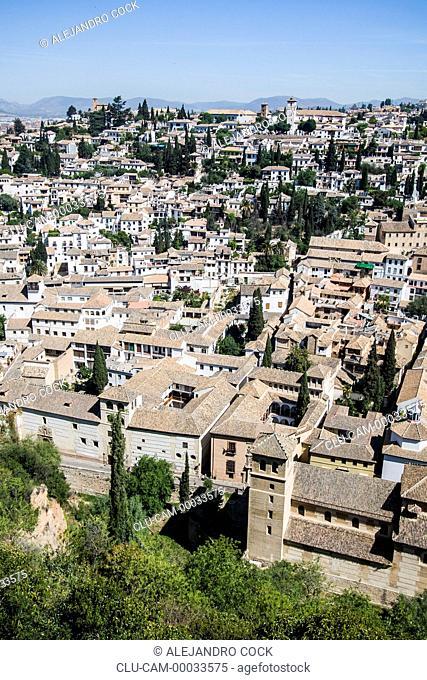 Panoramic of Granada, Andalusia, Spain, Europe