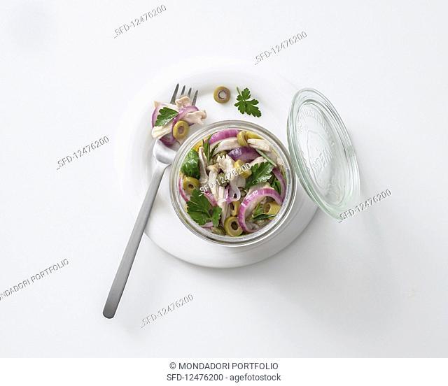 Rabbit pickled in oil (Italy)