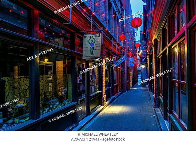 Fan Tan Alley, Chinatown, Victoria, British Columbia, Canada