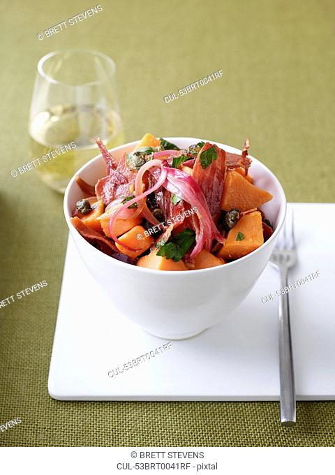 Bowl of sweet potato salad