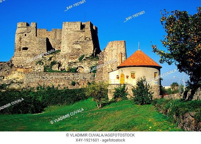 Ruins of medieval castle in town Levice, Levicky hrad, Slovakia
