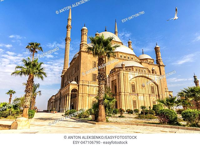 The Great Mosque of Muhammad Ali Pasha or Alabaster Mosque in the Citadel of Cairo in Egypt
