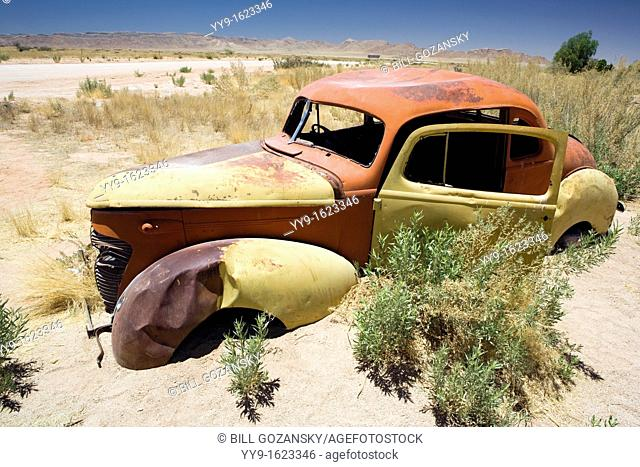 Abandoned Car in Solitaire - Khomas Region, Namibia, Africa