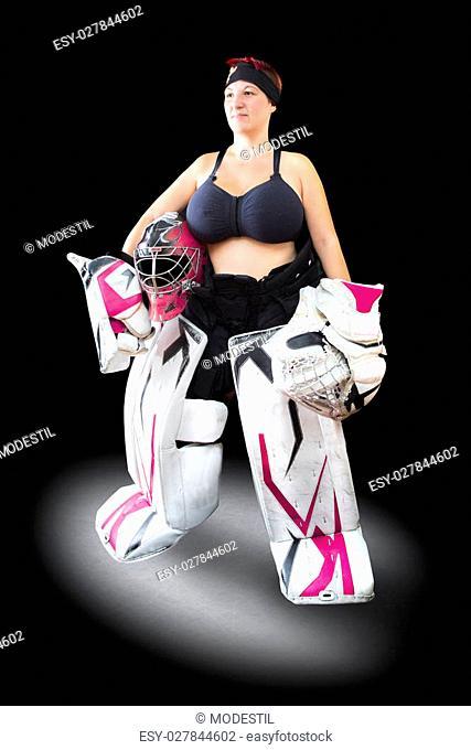 Nude girl ice hockey pity