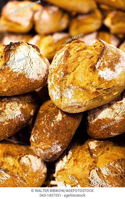 France, Aquitaine Region, Gironde Department, Bordeaux, Marche des Capucins market, bread