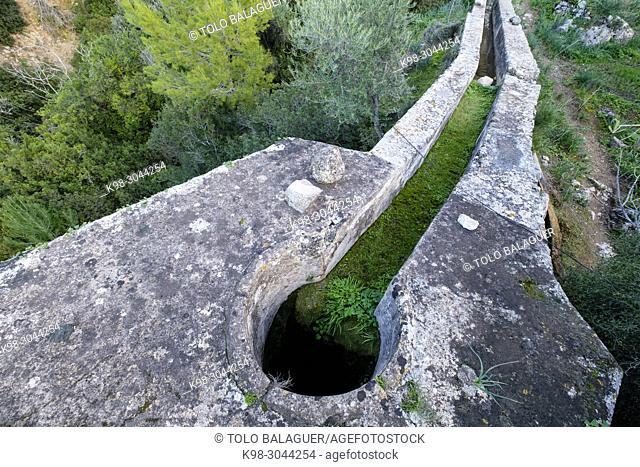 molino de agua de Son Fortuny, siglo XVII, Estellencs, Serra de Tramuntana, Mallorca, balearic islands, Spain