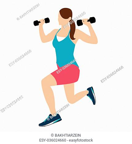 Barbell squat lunge Stock Photos and Images | age fotostock