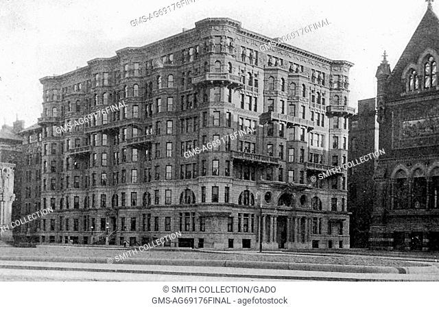 Photograph of the Hotel Westminster, by developer Westminster Chambers, in Copley Square, which was the source of much controversy regarding building height...