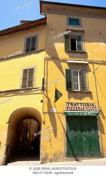 Pizzeria Trattoria Croce del Travaglio, Via Dardano, Dandano Street, Cortona, Province Arezzo, Tuscany, Italy, Europe