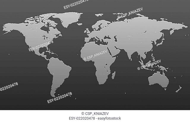 Stylized image of the world map