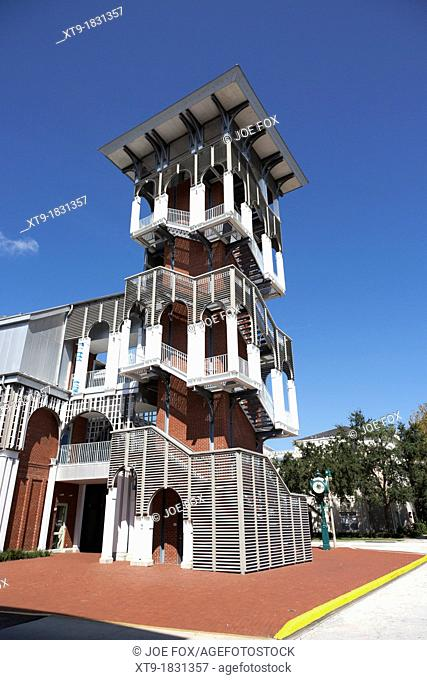 bank of america building and tower in downtown celebration florida usa