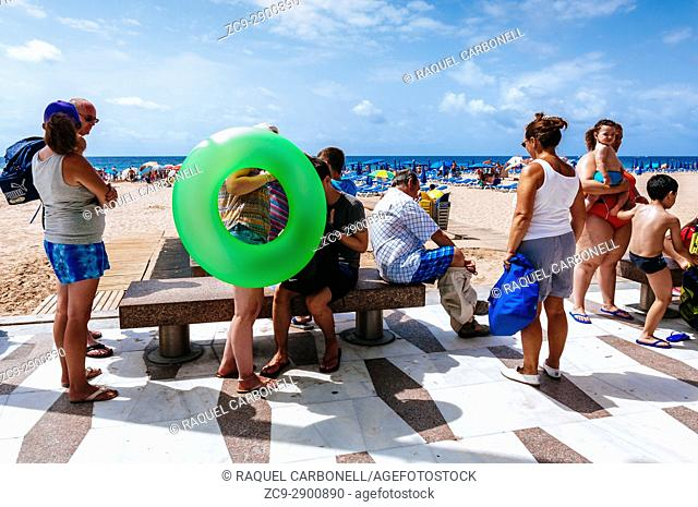 Tourists at the beach