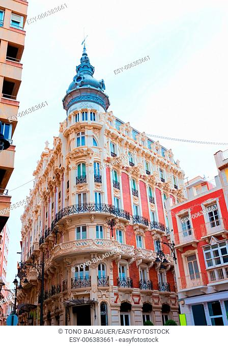 Cartagena the Grand Gran Hotel Art Noveau architecture in Murcia Spain