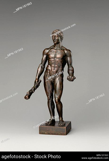 Standing Hercules. Date: late 18th century; Culture: Italian, possibly Rome; Medium: Bronze, with silvered wreath; Dimensions: Height (without base): 8 1/2 in