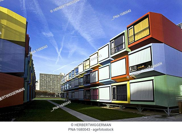 UTRECHT - Appartment building for students constructed from containers, on the campus of Utrecht University, the Netherlands  ANP PHOTO COPYRIGHT HERBERT...