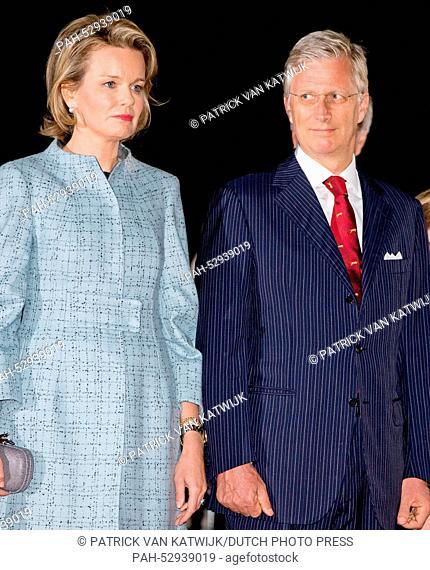 King Philippe of Belgium and Queen Mathilde of Belgium attend a First World War commemoration, in Ploegsteert, Belgium, 17 October 2014