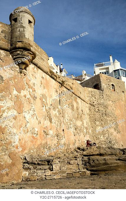 Essaouira, Morocco. Town Ramparts from the Sea Side
