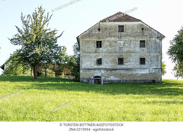 Abandoned Farming Estate in Rural Hausruck Region near Bad Schallerbach, Austria