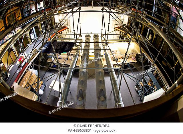 The interior is covered in scaffolding at the Margravial Opera House in Bayreuth,Germany, 17 May 2013. Anew information center is hoping to make it easier for...