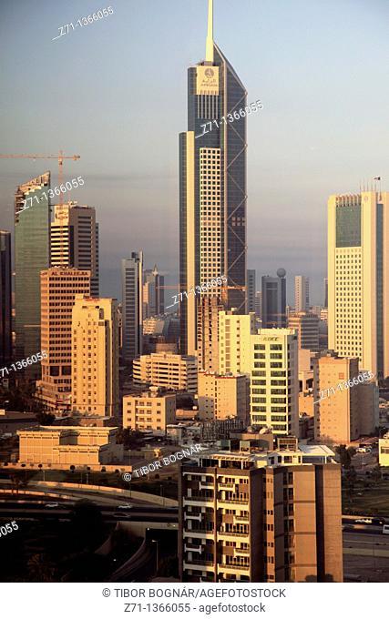 Kuwait, Kuwait City, skyline, general view