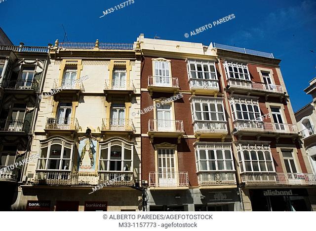 Fachadas CARTAGENA CIUDAD region Murcia ESPAÑA  Facades CARTAGENA CITY Murcia region SPAIN