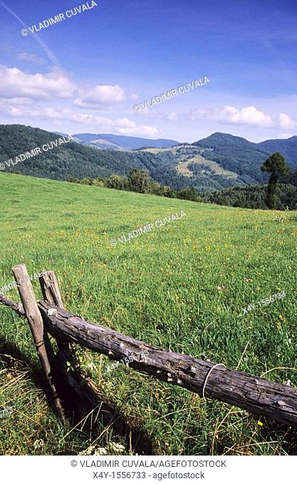 View of the Muranska planina NP from Cremosna, near Tisovec