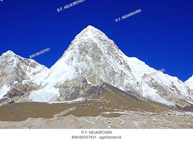 Pumorie (view near Gorak Shep), Nepal, Himalaya, Khumbu Himal
