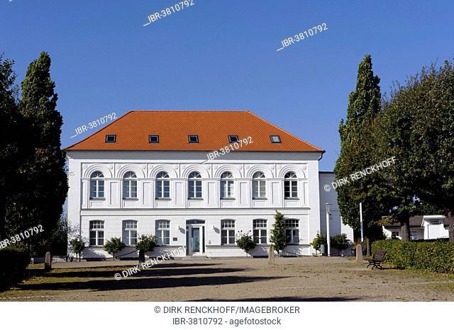 Building on Rondellplatz Circus, Putbus, Rügen Island, Mecklenburg-Vorpommern, Germany