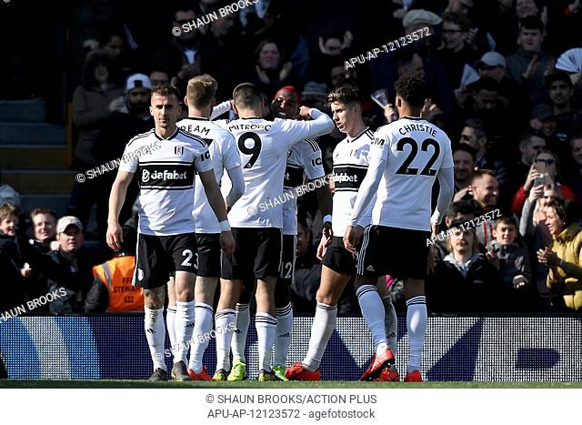 2019 EPL Premier League Football Fulham v Everton Apr 13th. 13th April 2019, Craven Cottage, London, England; EPL Premier League football