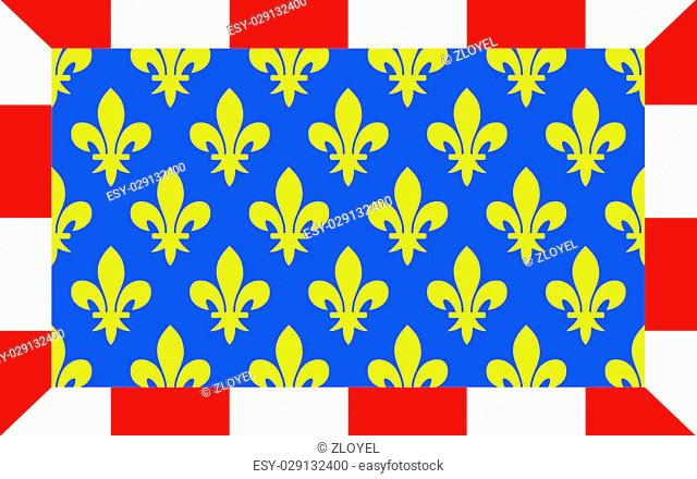 Flag of Indre-et-Loire is a department in west-central France named after the Indre and the Loire rivers